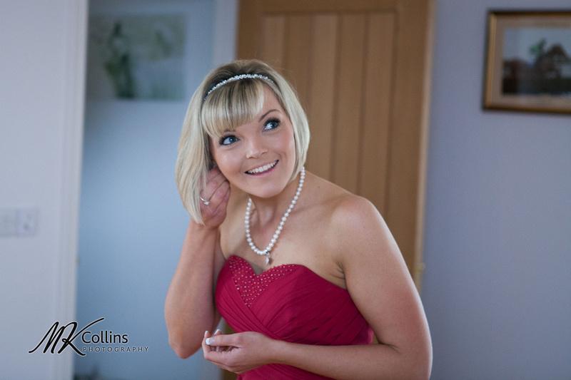 Ocean Kave wedding, bridesmaid getting ready