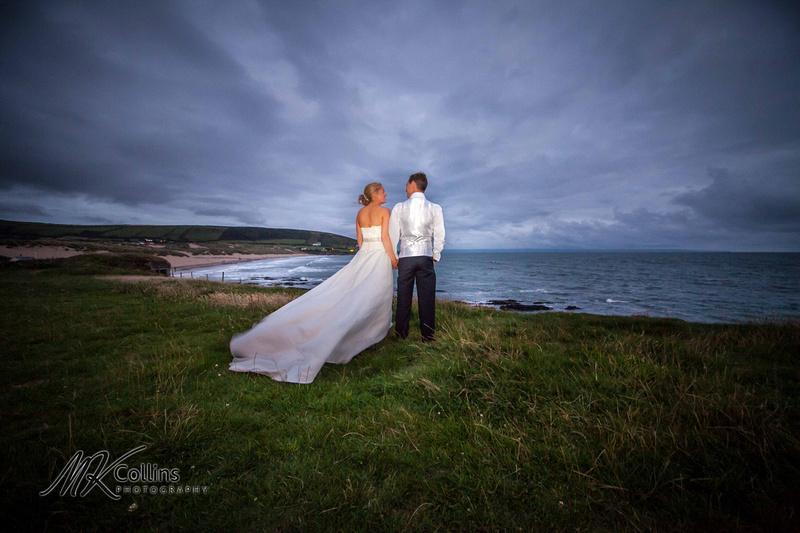 Bride and Groom at Croyde Bay