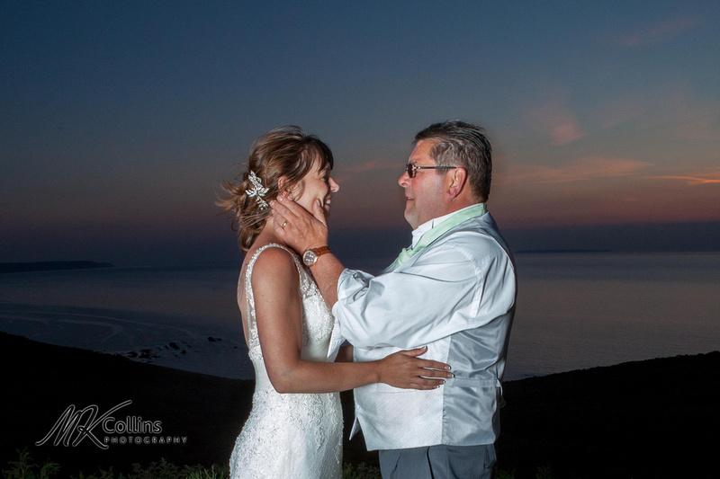 Bride and Dad at wedding Ocean Kave