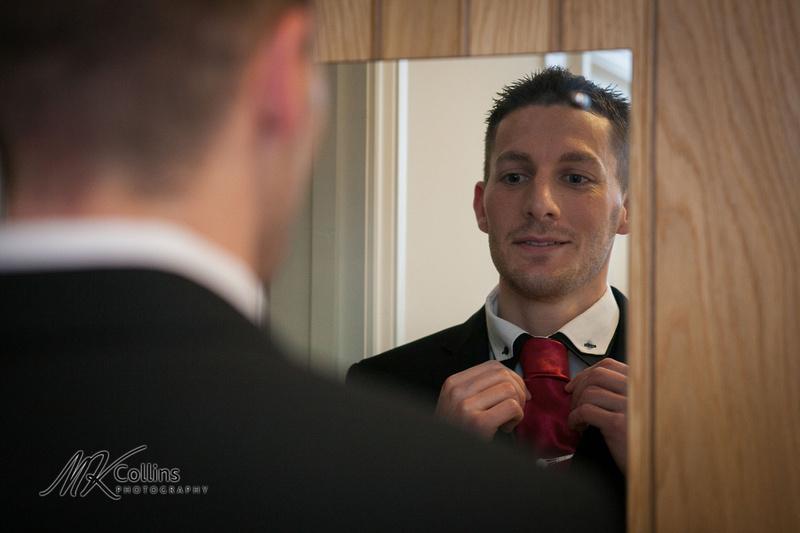 Ocean Kave wedding, groom getting ready