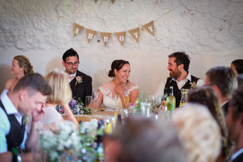 The Old Barn wedding in North Devon