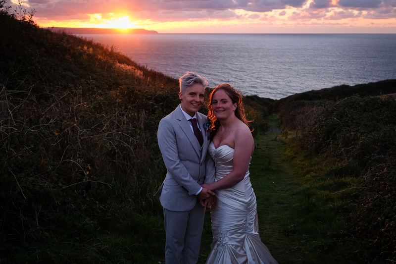 Gay wedding at Ocean Kave, same sex wedding in Devon