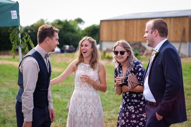 North Devon Farm wedding in a field