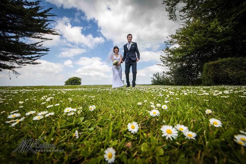 Bride and Groom at Northcote Manor