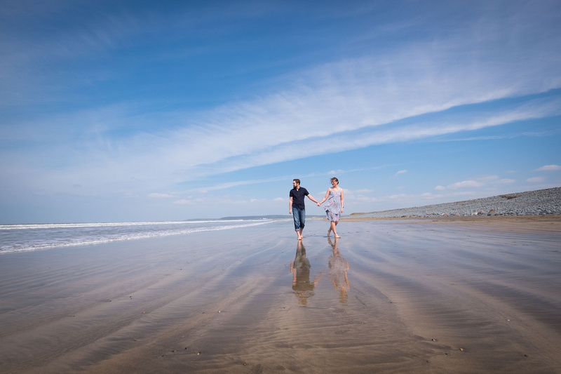 Westward Ho! beach couple shots