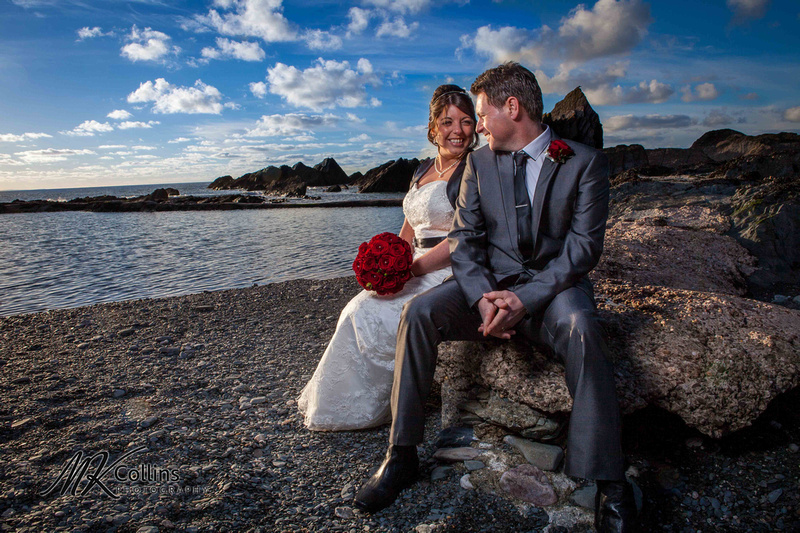 Bride and Groom at Tunnels Beaches Ilfracombe