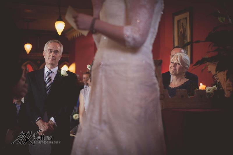 Mum & Dad looking proud at wedding