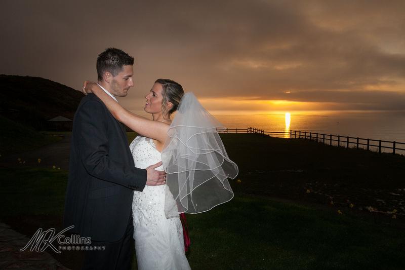 Ocean Kave wedding, sunset