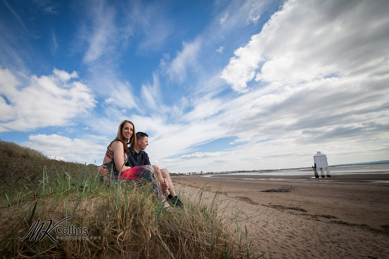 Pre wedding shoot Burnham Beach, Somerset