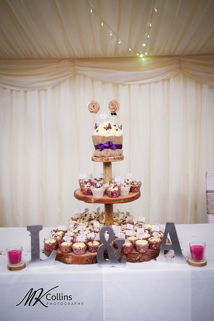 Wedding at Hallsannery, North Devon Wedding Cake