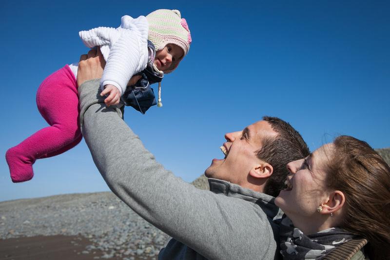 family portrait session on westward Ho! beach