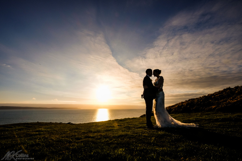 Sunset at Ocean Kave wedding